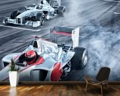 Racing Cars Head to Head mural wallpaper kitchen preview
