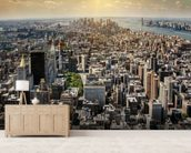 New York from Above wall mural living room preview