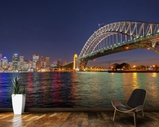 Sydney Harbour Bridge Reflections wallpaper mural