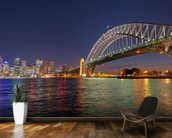 Sydney Harbour Bridge Reflections wallpaper mural kitchen preview