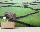 Stone Houses and Stone Walls mural wallpaper living room preview