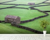 Stone Houses and Stone Walls mural wallpaper in-room view