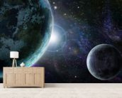 Blue Planet Earth wallpaper mural living room preview