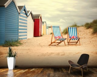 Deck Chairs Wallpaper Mural Wallpaper Wall Murals