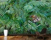 Tiger Hide and Seek mural wallpaper kitchen preview