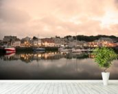Padstow Cornwall wall mural in-room view