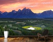 Teton National Park - Wyoming wallpaper mural kitchen preview