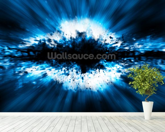 Exploding Star mural wallpaper room setting