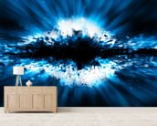 Exploding Star mural wallpaper living room preview