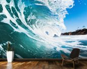Rolling Waves mural wallpaper kitchen preview