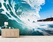 Rolling Waves mural wallpaper living room preview