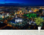 Las Vegas Lights wall mural in-room view