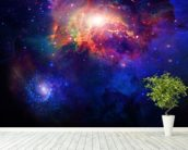 Space wall mural in-room view