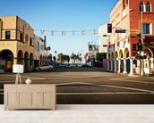 Venice Beach City Streets mural wallpaper living room preview