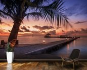 Peaceful Maldives Sunset wallpaper mural kitchen preview