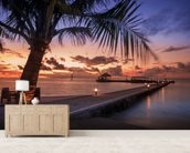 Peaceful Maldives Sunset wallpaper mural living room preview