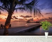 Peaceful Maldives Sunset wallpaper mural in-room view