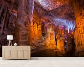Vshalom Stalactite Cave Israel mural wallpaper living room preview