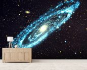 Spiral Galaxy wallpaper mural living room preview