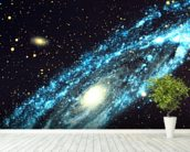Spiral Galaxy wallpaper mural in-room view