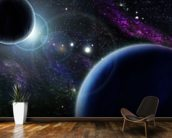Two Blue Planets wall mural kitchen preview