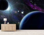 Two Blue Planets wall mural living room preview