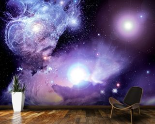 Fantasy Space Nebula Wall Mural Wall Murals Wallpaper