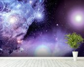 Fantasy Space Nebula wall mural in-room view