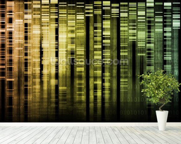 DNA Research wallpaper mural room setting