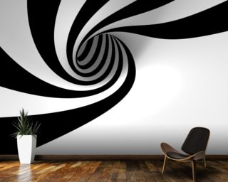 Abstract Spiral wallpaper mural