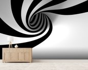Abstract Spiral wallpaper mural living room preview