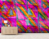 Picasso - Purple Cubism wallpaper mural living room preview