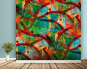 Picasso - Green Red Cubism wall mural in-room view
