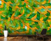 Picasso - Green Yellow Cubism wallpaper mural kitchen preview