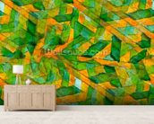 Picasso - Green Yellow Cubism wallpaper mural living room preview