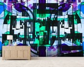 Abstract Purple wallpaper mural living room preview