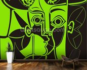 Picasso - Green mural wallpaper kitchen preview
