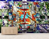 Expressive Colours mural wallpaper living room preview