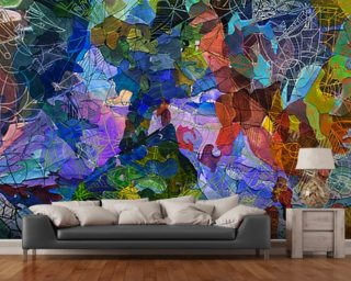 Abstract Blue wallpaper mural