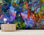Abstract Blue wallpaper mural living room preview
