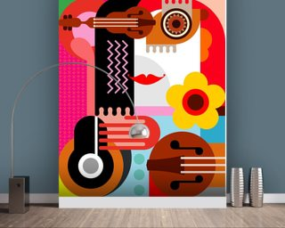 Abstract Portrait wall mural
