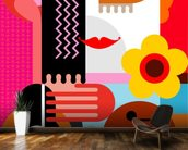 Abstract Portrait wall mural kitchen preview