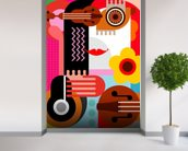 Abstract Portrait wall mural in-room view