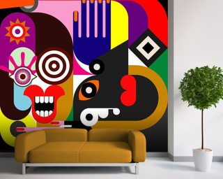 Abstract Women Wallpaper Wall Murals