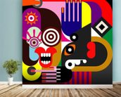 Abstract Women wallpaper mural in-room view