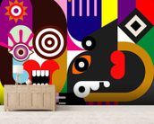 Abstract Women wallpaper mural living room preview