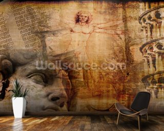 Vitruvian Man, Italian Icons wallpaper mural