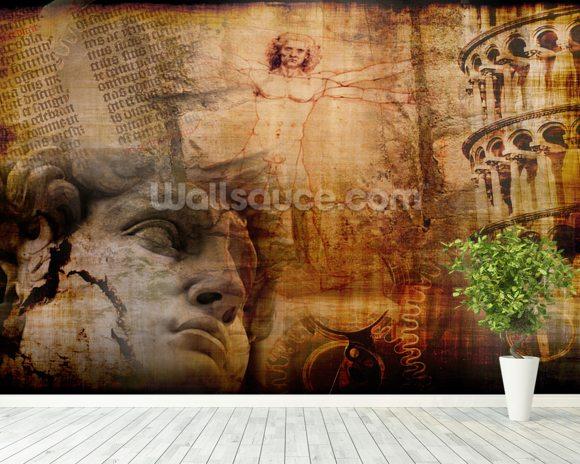 Vitruvian Man Italian Icons Wallpaper Wall Mural Wallsauce USA