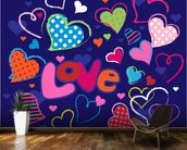 Cute Love Doodles mural wallpaper kitchen preview