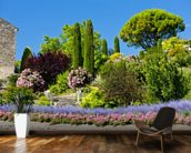 Gardens at Gordes, Provence wall mural kitchen preview